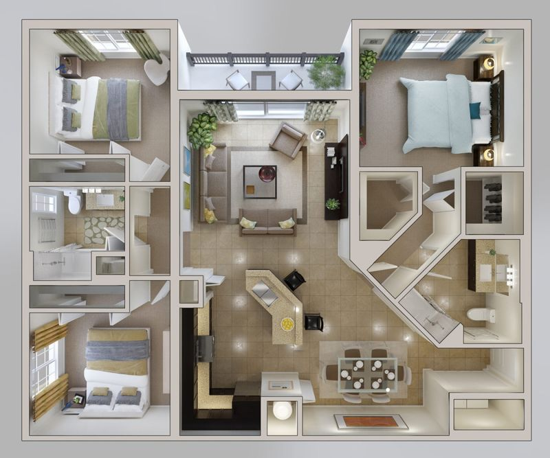 planos de casas 20x20