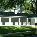 Plano de casa de una planta y 120 m2