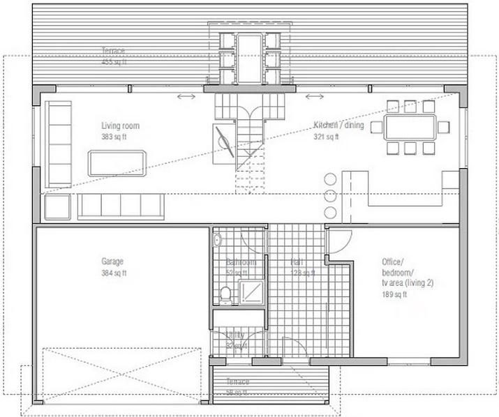 Plano de casa moderna de 200 metros cuadrados for Casa moderna 50 metros cuadrados