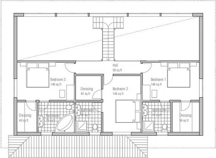 Plano de casa moderna de 200 metros cuadrados for Planos de casas 200m2