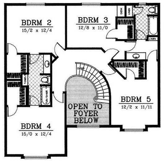 Planos de casas con espacios abiertos en planta alta