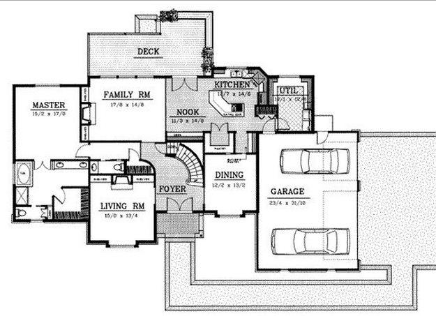 Planos de casas con espacios abiertos