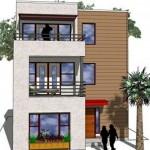 Planos de casas modernas de 3 pisos