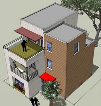 Planos de casas modernas de 3 pisos for Casa minimalista 3 pisos