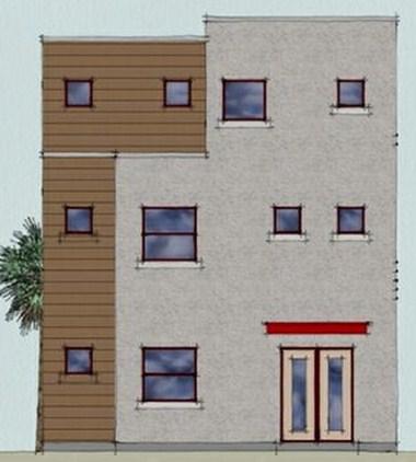 Planos de casas modernas de 3 pisos y 3 dormitorios