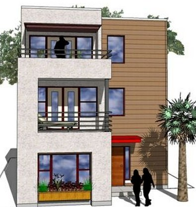 Planos de casas modernas de 3 pisos for Planos de casas de 3 pisos