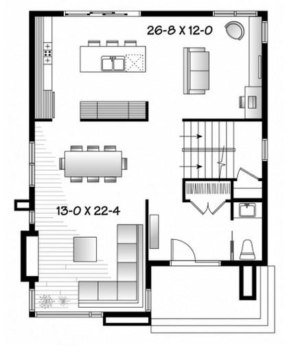 Planos de casas modernas sin cochera for Planos de viviendas modernas