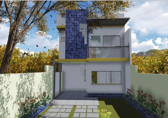 Plano de casa para terreno angosto planos de casas modernas - Como se construye una casa ...