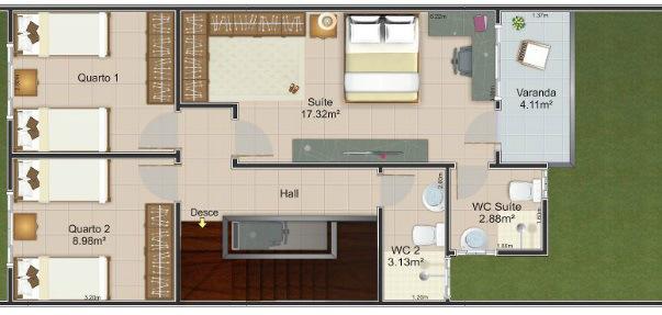 planos de casas de dos pisos de 6 por 12