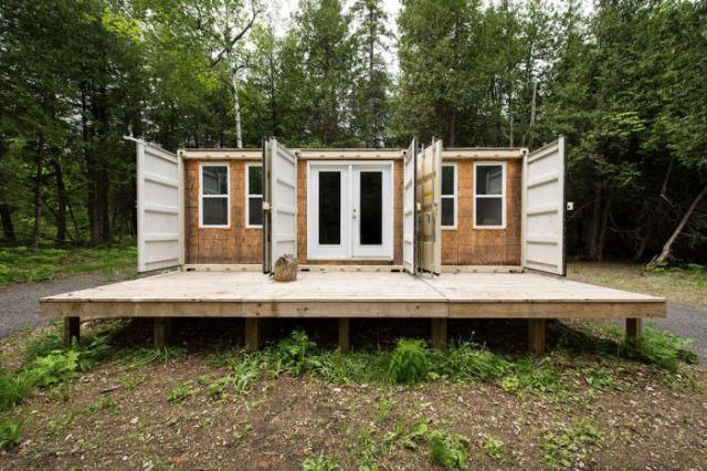 casa hecha con 3 contenedores
