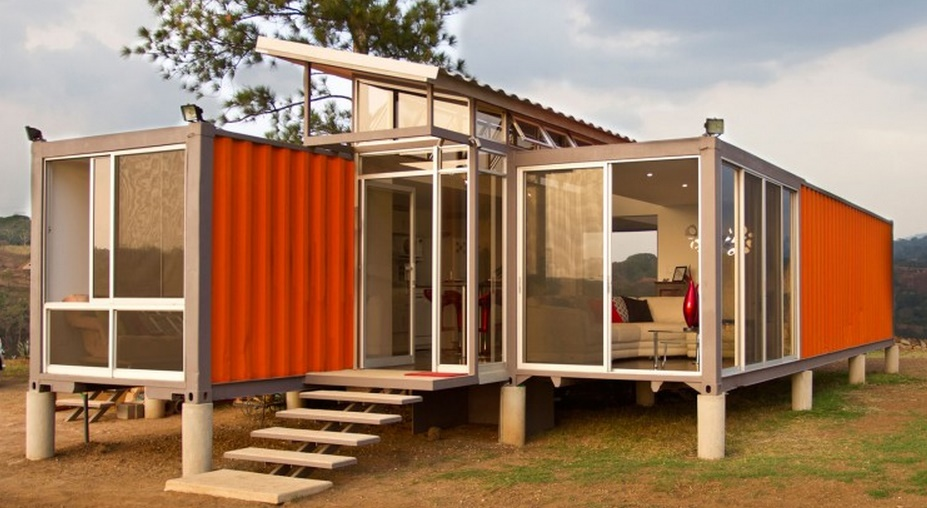 contenedores planos de casas modernas