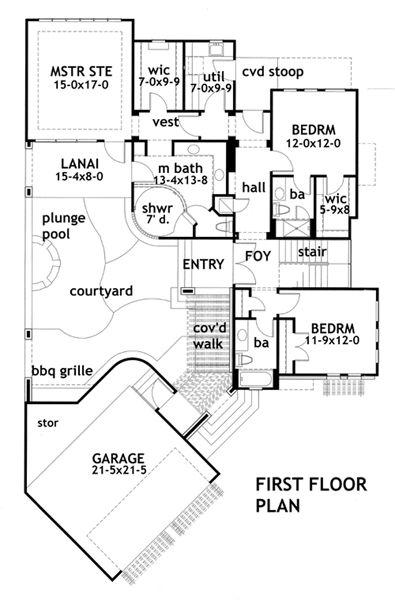 plano de casa moderna y lujosa