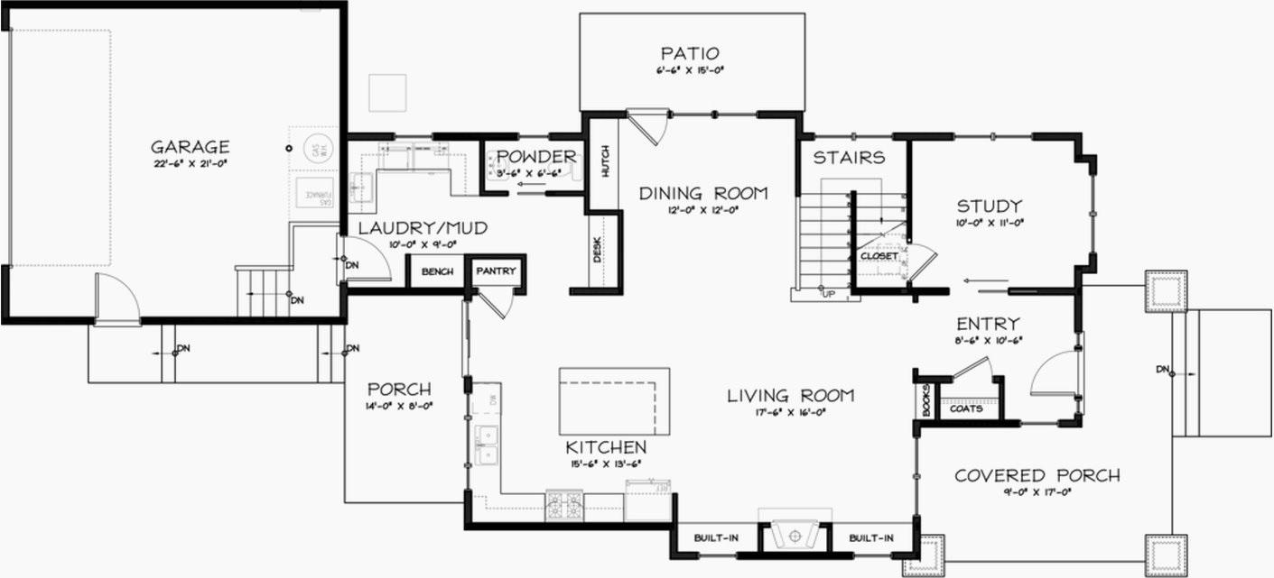 galeria frontal | planos de casas modernas