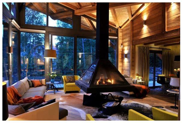 Chimenea planos de casas modernas - Fotos de bungalows de madera ...