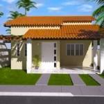 Plano de casa moderna de 100 m2