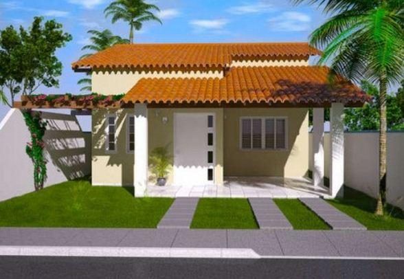 Fachada de casa de 100 m2