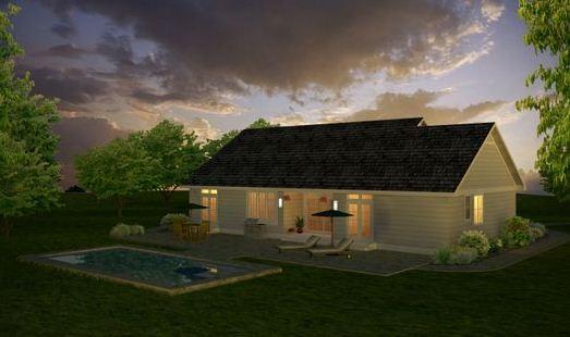Piscina planos de casas modernas for Fachadas de casas de una sola planta