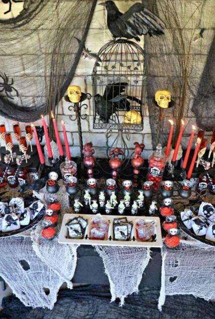 Mesas de miedo para noche de brujas