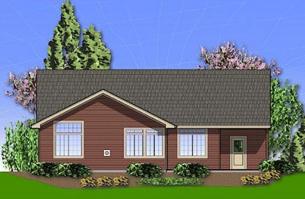 Plano de casa con cochera para terreno de 10 x 30