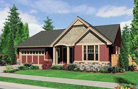 Plano de casa de 3 dormitorios para terreno de 10 x 30