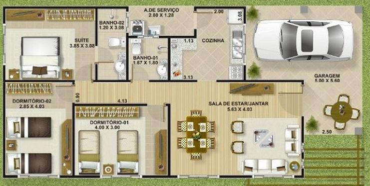 Plano de casa de 100m2 planos de casas modernas for Planos de casas medianas