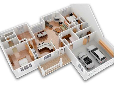 Piscina planos de casas modernas for Distribucion de casas modernas de una planta