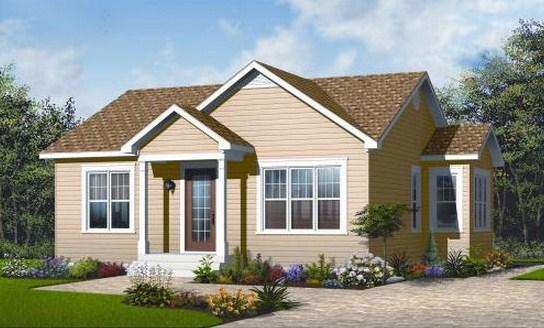 Plano de casa sencilla de 2 dormitorios for Casa de una planta sencilla