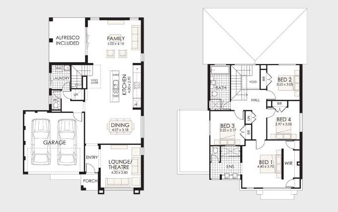 Planos de casas de 4 recamaras planos de casas modernas - Distribuciones de casas modernas ...