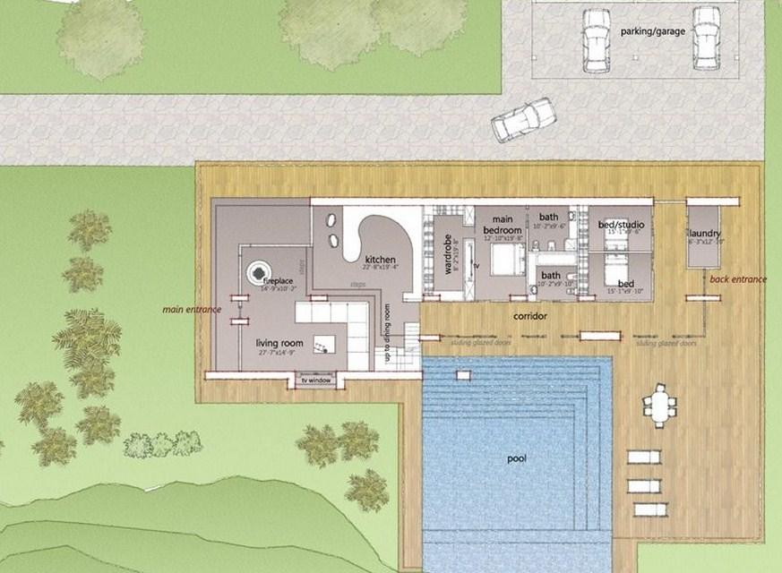 Planos de casas modernas para country for Casa minimalista en una planta