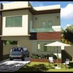 Plano de casa grande para 5 personas en 2 pisos