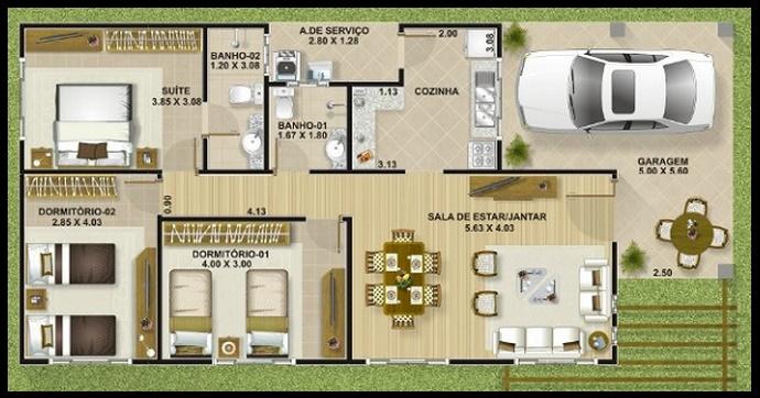 Casas Peque As De 3 Dormitorios
