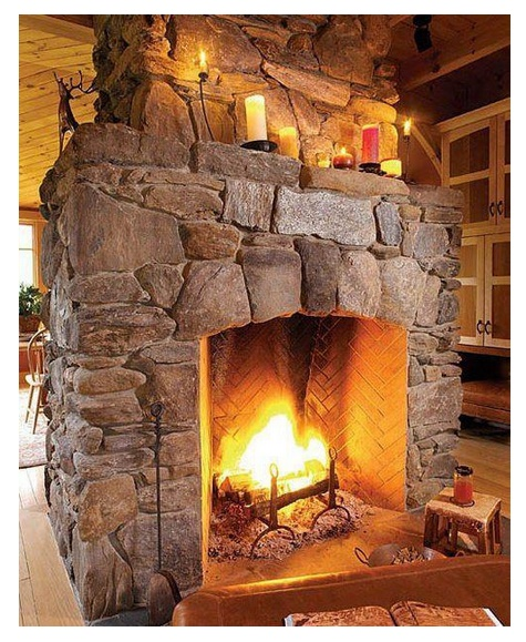 Chimeneas rusticas for Diseno de hogares a gas