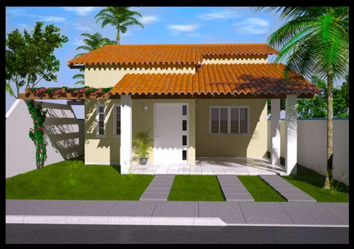 1 piso planos de casas modernas for Casas modernas 3 recamaras
