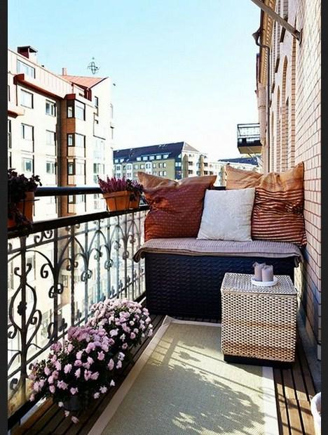 Balcones con estilo romantico
