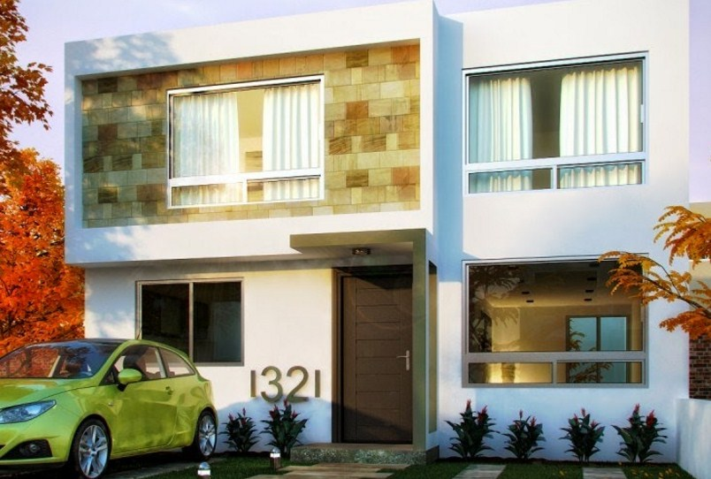 Bonitas fachadas de casas con cantera