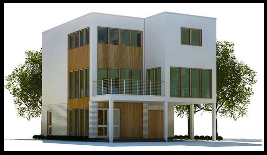 Plano de casa de 3 pisos y 210 metros for Planos de casas de 3 pisos