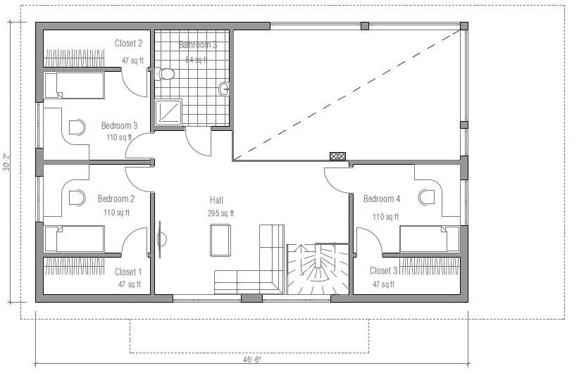 Casa prefabricada de 2 pisos