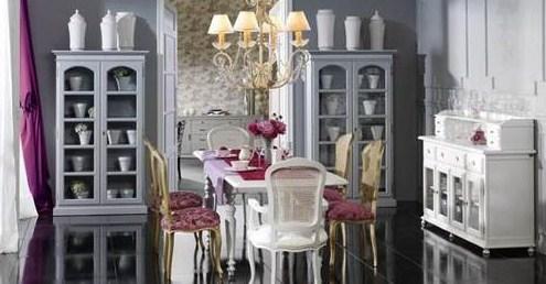Comedores con estilo vintage romantico