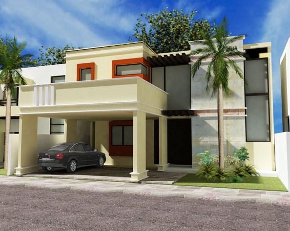 Fachadas con molduras for Fachada de casas modernas con balcon
