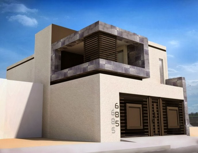 Fachadas de casas con rejas for Fachada de casas modernas con porton