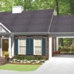 Plano de casa con garage pasante