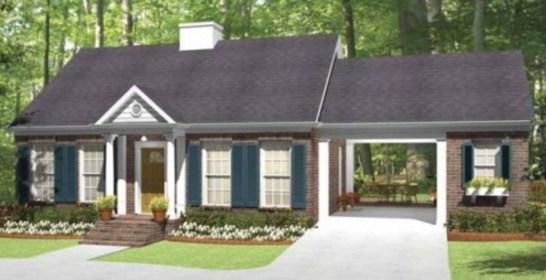Modelo de casa con garage pasante