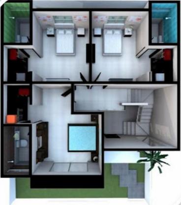 Modelos de planos de casas en 3d