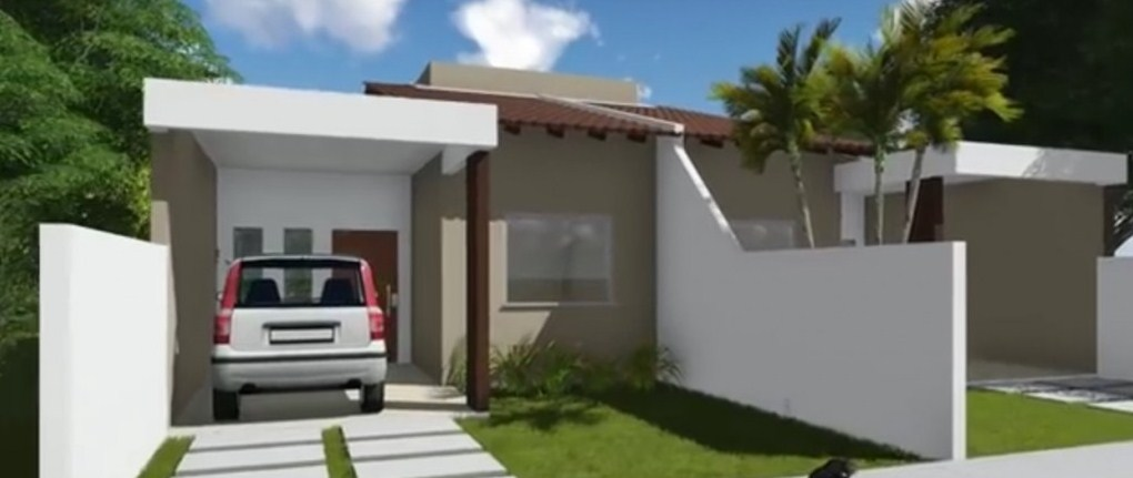 Plano de casa pareada for Planos de casas adosadas