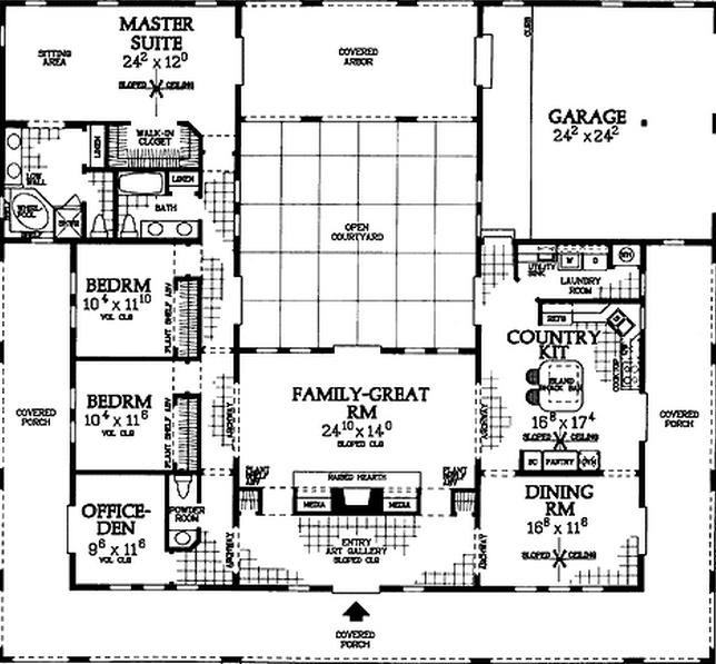 estilo colonial planos de casas modernas