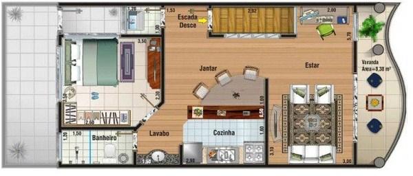 planos de casas de dos pisos con local