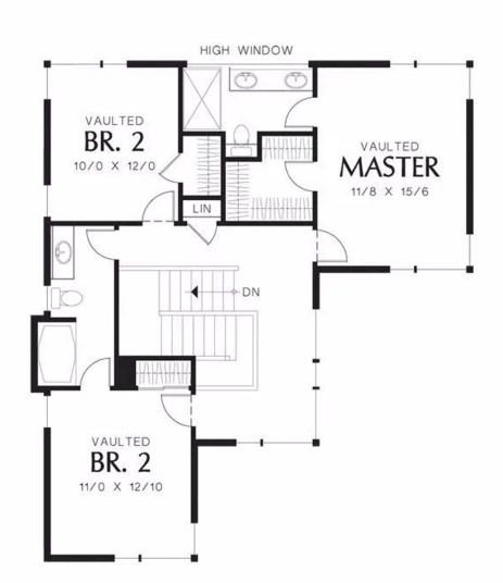 Plano de casa de 2 pisos con terminaciones irregulares