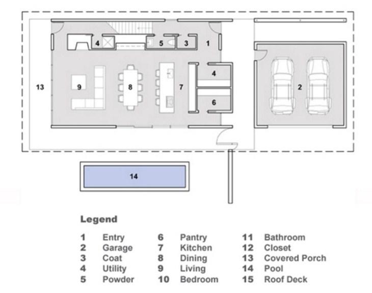 Plano de casa minimalista de dos pisos for Casas minimalistas planos