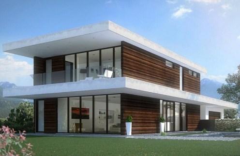 Plano de casa minimalista de dos pisos for Casa minimalista 2 plantas
