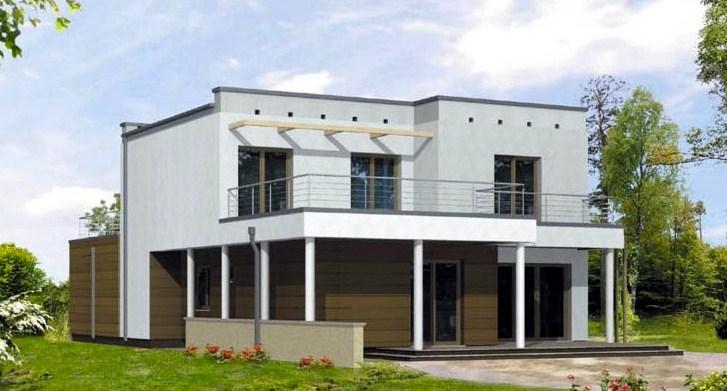 Garaje doble planos de casas modernas for Planos de casas de dos pisos modernas
